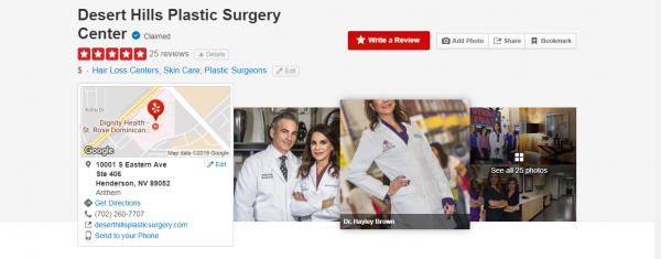 Dr. Hayley Brown Yelp profile