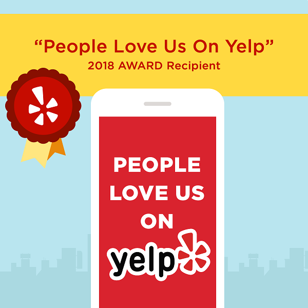 People Love Us On Yelp 2018