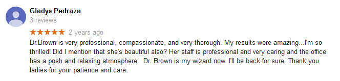 Patient review for Dr Hayley Brown
